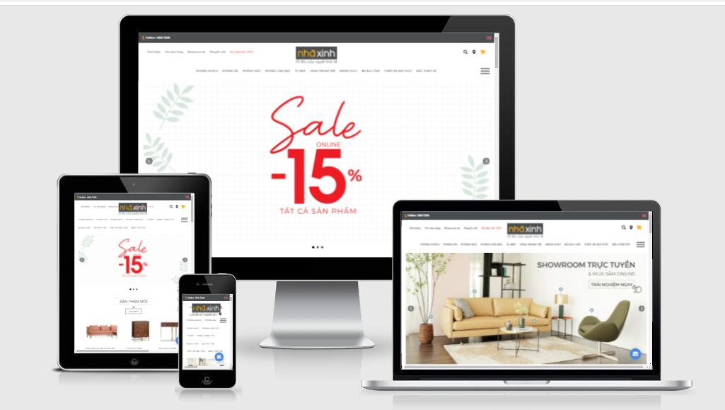 thiết kế web nội thất nhà xinh